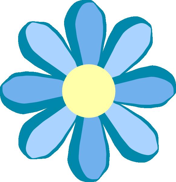 582x599 Blue Flower Clip Art