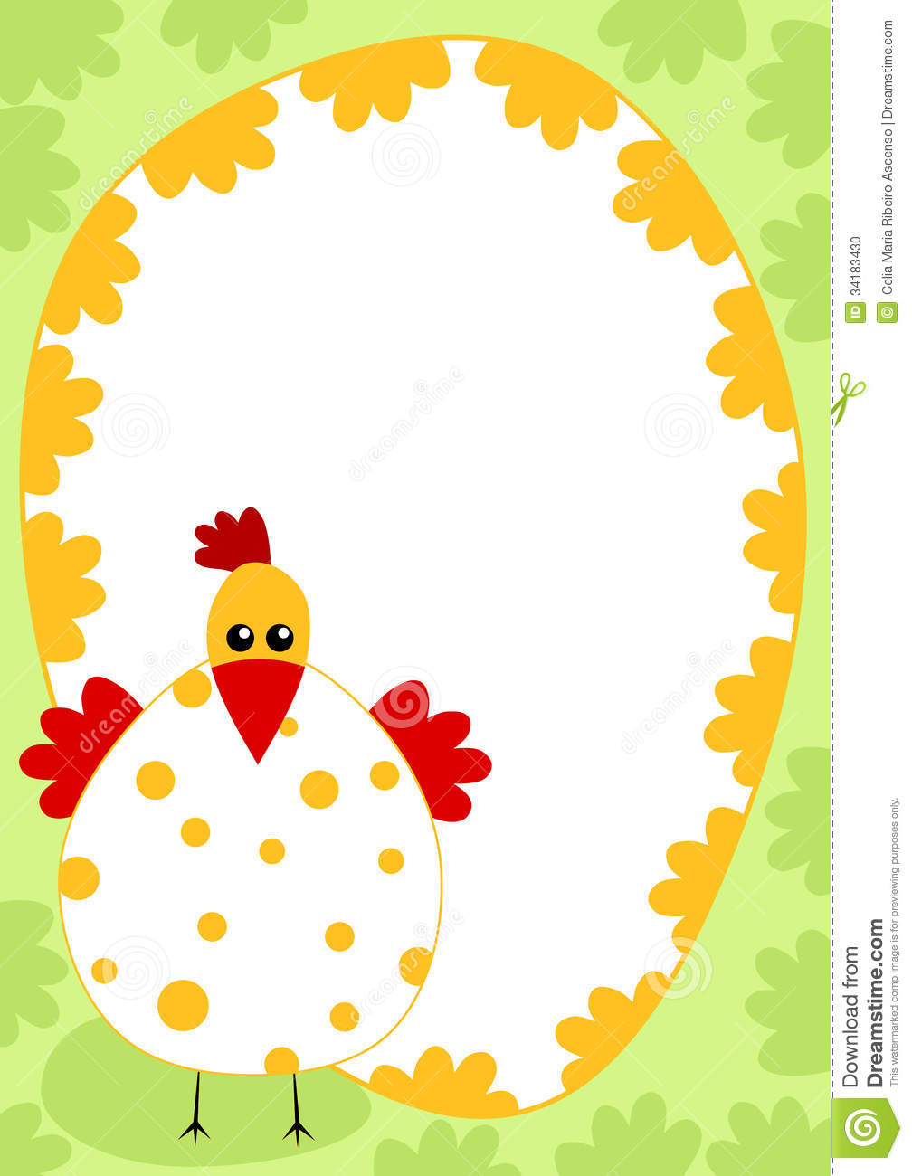 1008x1300 Chick Border Clipart