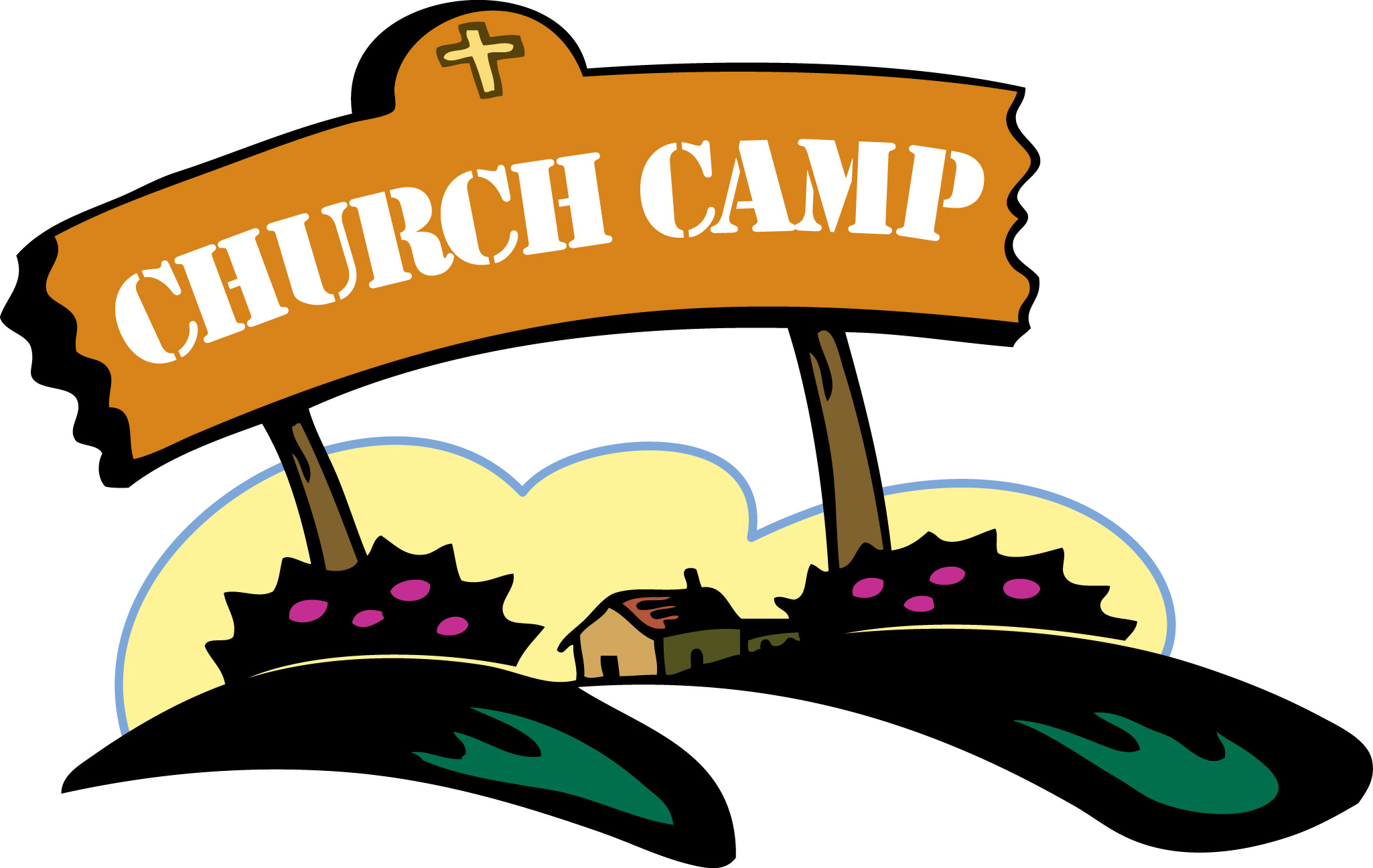 2050x1296 Church Camp Clipart