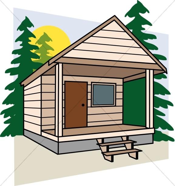 577x612 Clip Art Camp Cabins Clipart
