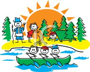 300x240 Cartoon Of Several Kids At Summer Camp