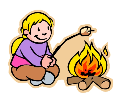 489x394 Summer camp roast clipart