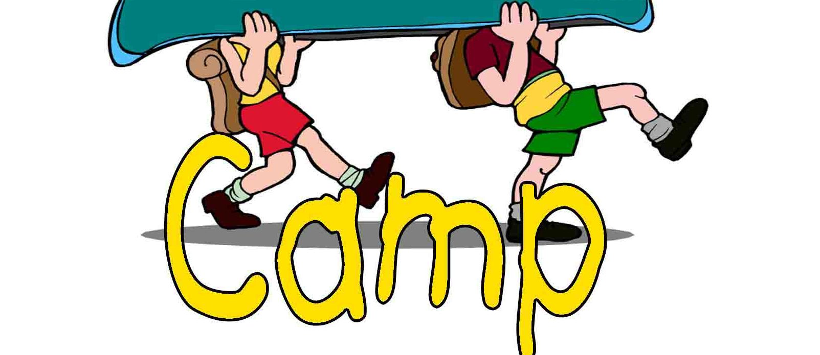 1603x695 Camp clipart kids camp