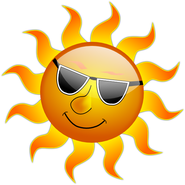 600x600 Summer Smile Sun Clip Art