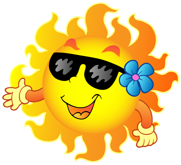 580x529 Cartoon funny summer sun 1 GoodVector