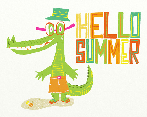 500x397 Funny hello summer cartoon