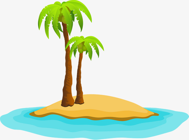 650x483 Island cartoon vector, Summer, Summer, Cartoon PNG and Vector for
