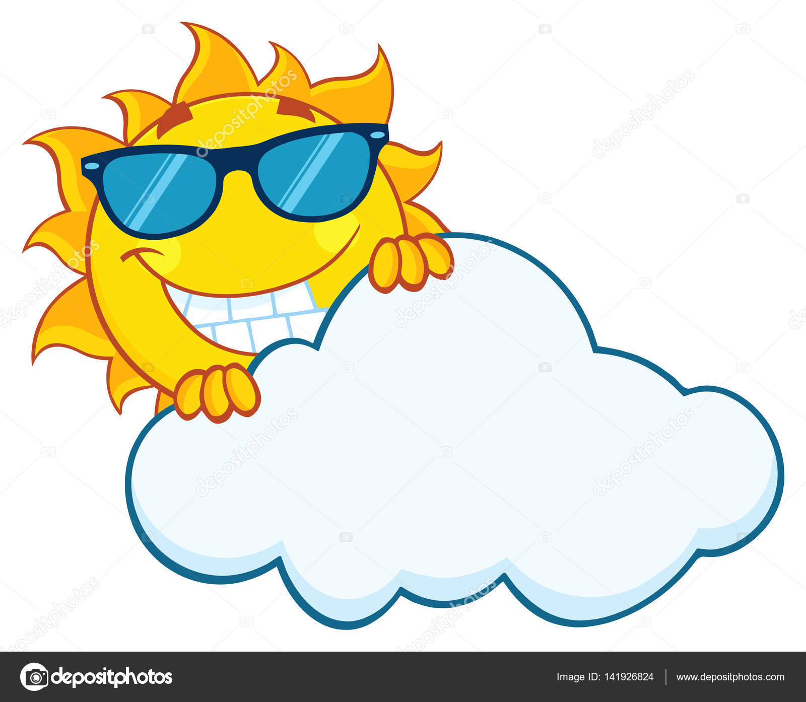 1600x1394 Smiling Summer Sun Mascot Cartoon — Stock Vector © HitToon