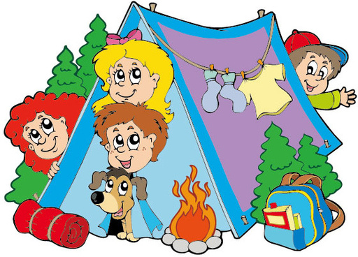 512x368 Vector summer camp cartoon free vector download (17,015 Free