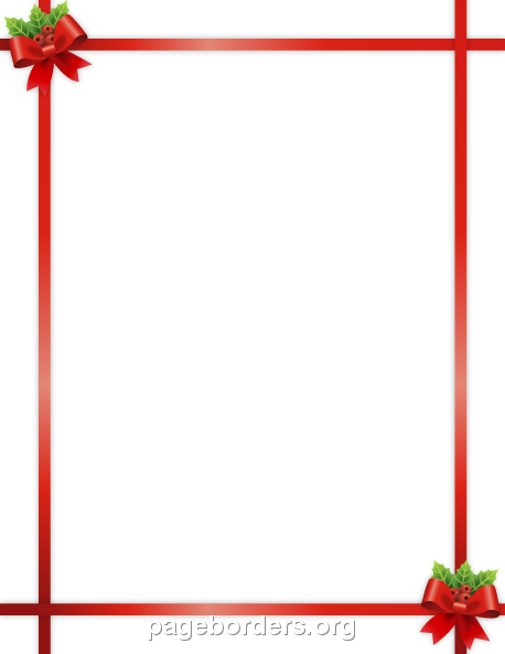 458x593 Christmas Ribbon Border Clip Art, Page Border, and Vector Graphics