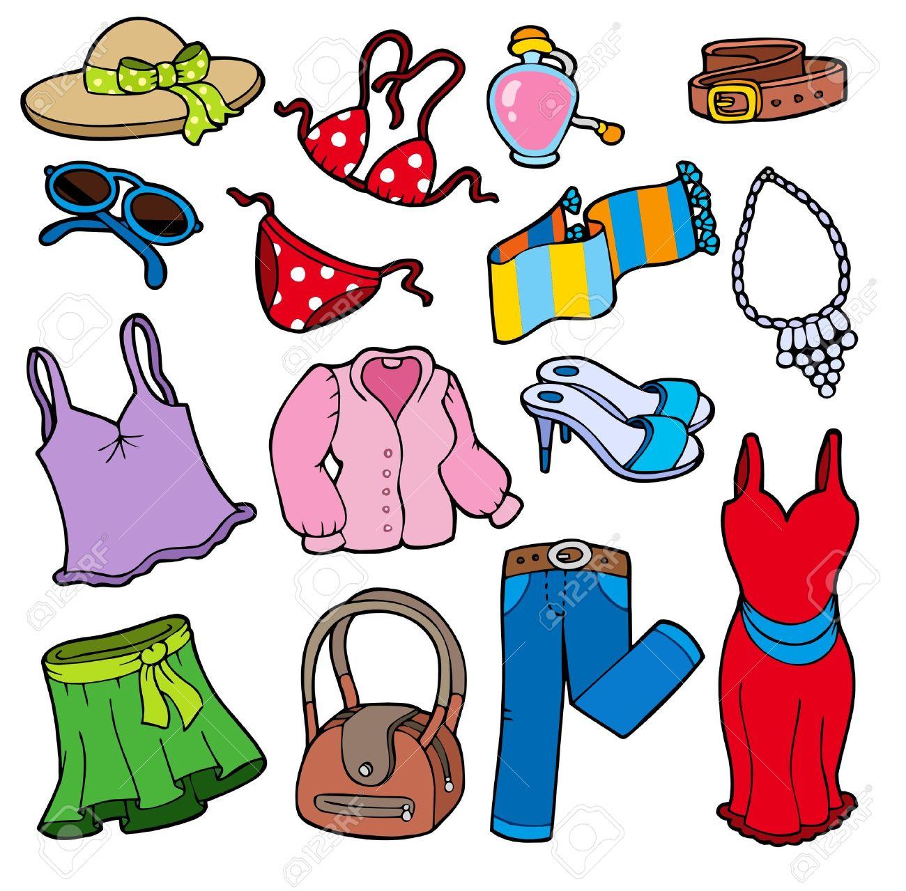 1300x1279 Summer Clipart Summer Outfit