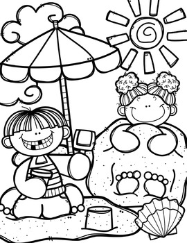 270x350 Free Summer Time Coloring Book {Made By Creative Clips Clipart} Tpt