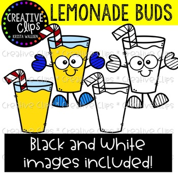 350x350 Lemonade Buds Summer Clipart {Creative Clips Clipart} Tpt