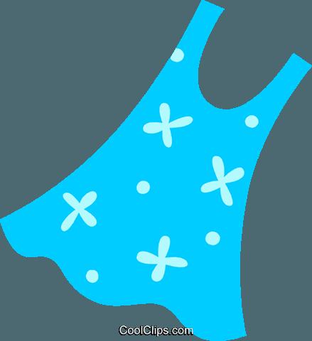 439x480 Summer Dress Royalty Free Vector Clip Art Illustration Vc096992