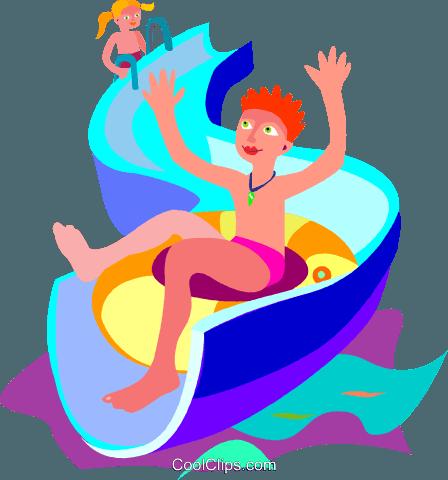 448x480 Slide, Swimming, Water, Summer Royalty Free Vector Clip Art