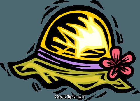 480x346 Summer Hat Royalty Free Vector Clip Art Illustration Vc063939