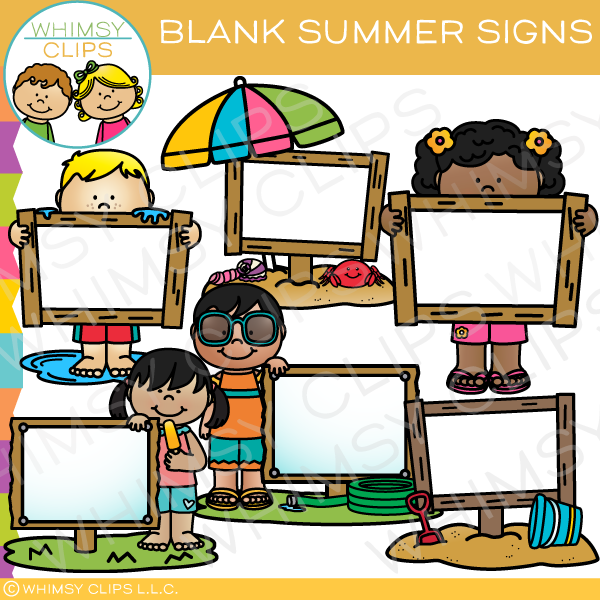 600x600 Blank Summer Signs Clip Art , Images Amp Illustrations Whimsy Clips