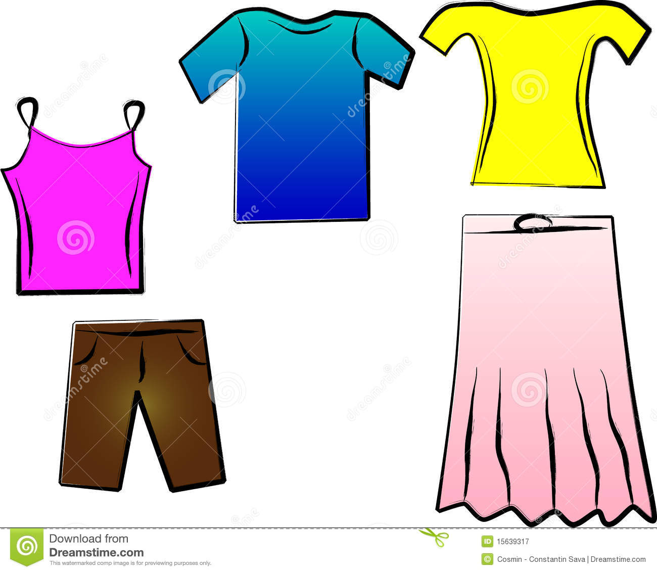 Summer Clothes Clipart | Free download on ClipArtMag