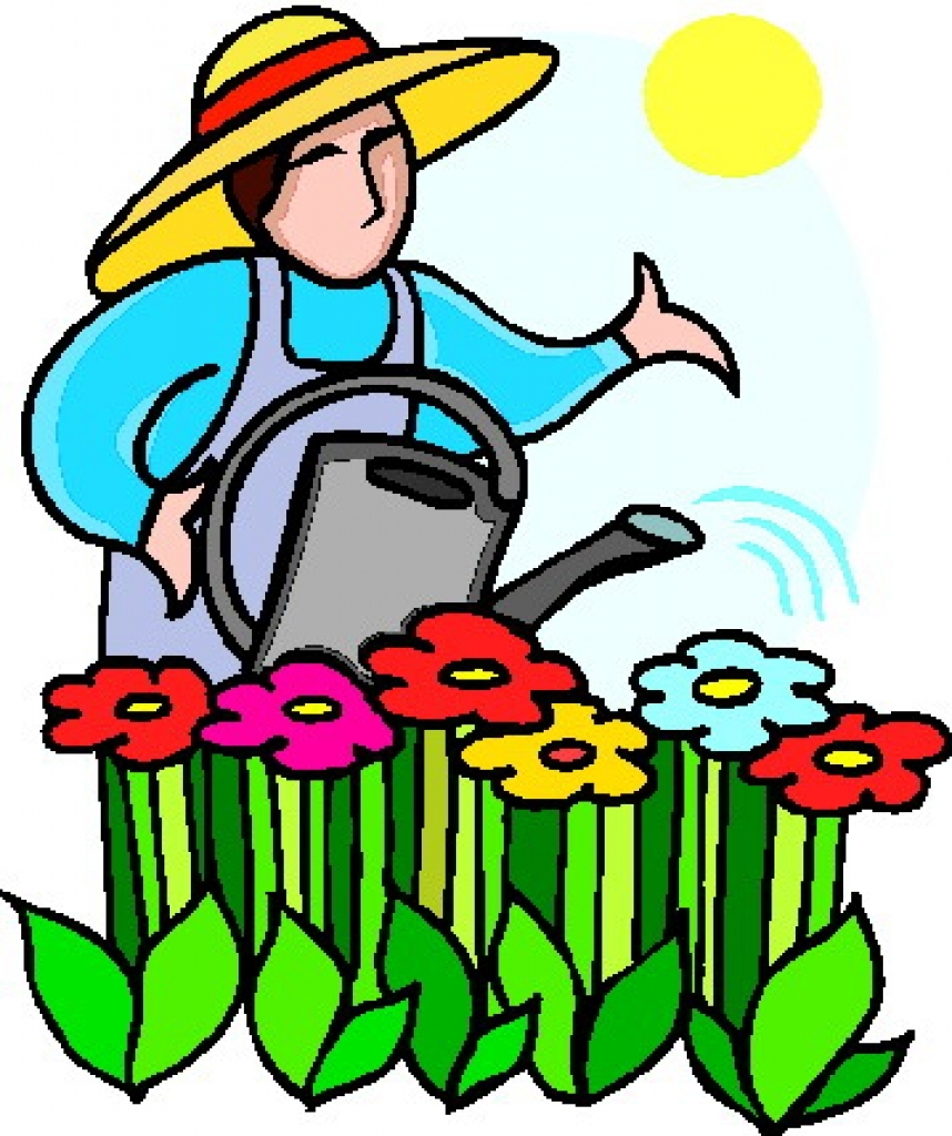 858x1024 Garden Clipart Summer Garden