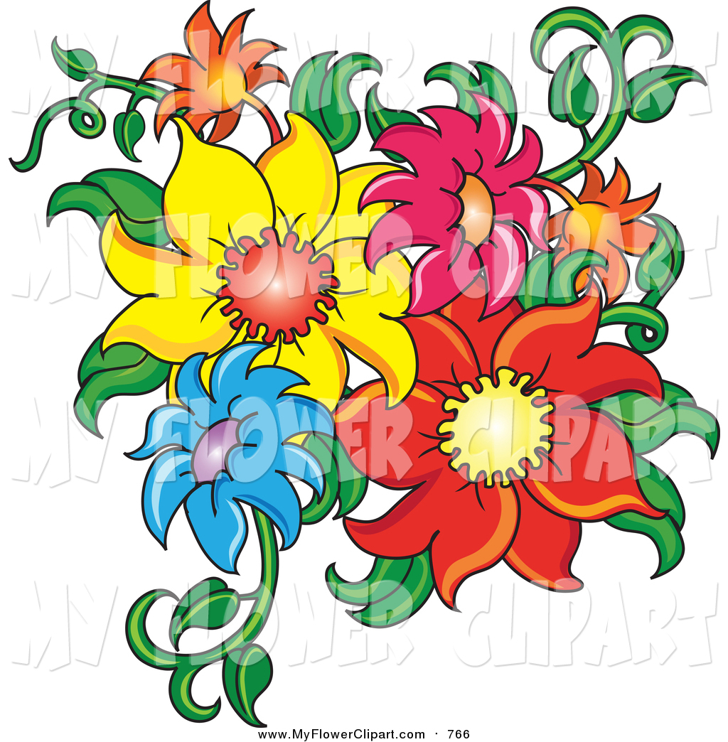 Summer flower clipart free download best summer flower clipart on 1024x1044 clip art of fresh colorful summer flowers and stems by pams izmirmasajfo