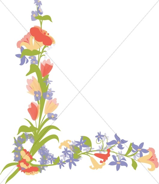 531x612 Flower Page Accent Flower Borders