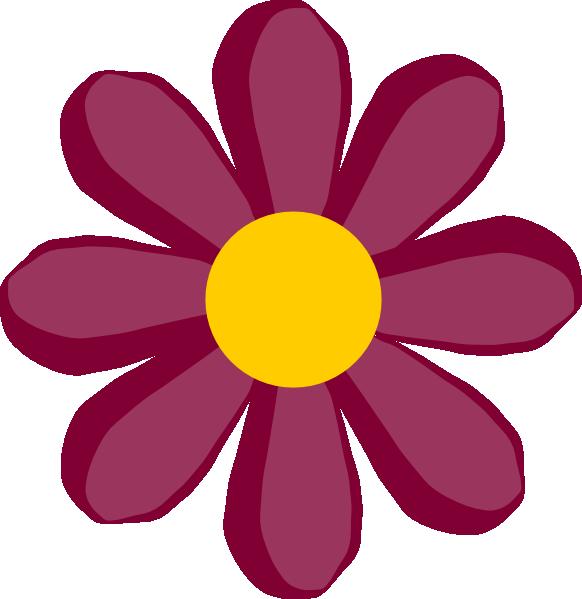 582x599 Purple Flower 17 Clip Art