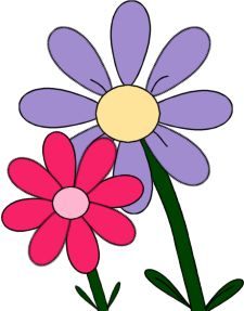 225x287 Purple Flower Clipart Summer