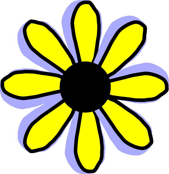 582x599 Yellow Flower Clip Art