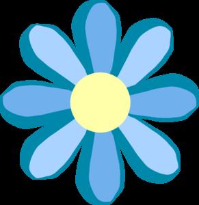 291x300 Blue Flower Clip Art