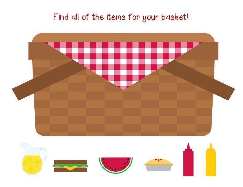 791x609 Basket Clipart Summer Picnic