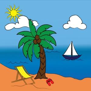 300x299 Hawaiian Palm Trees Clip Art Image Tropical Paradise