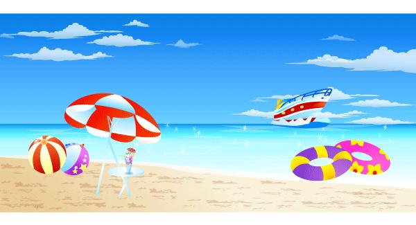 600x325 Summer Clipart Seaside