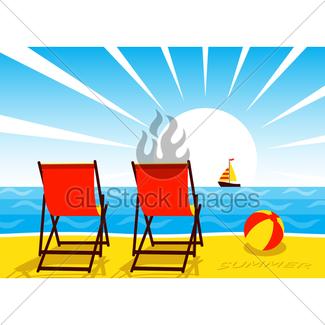 325x325 Beach Scene Gl Stock Images