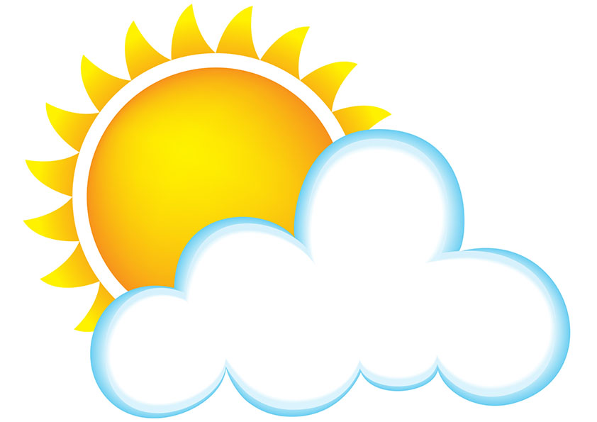 Cartoon clouds sunshine and. Summer sun clipart free