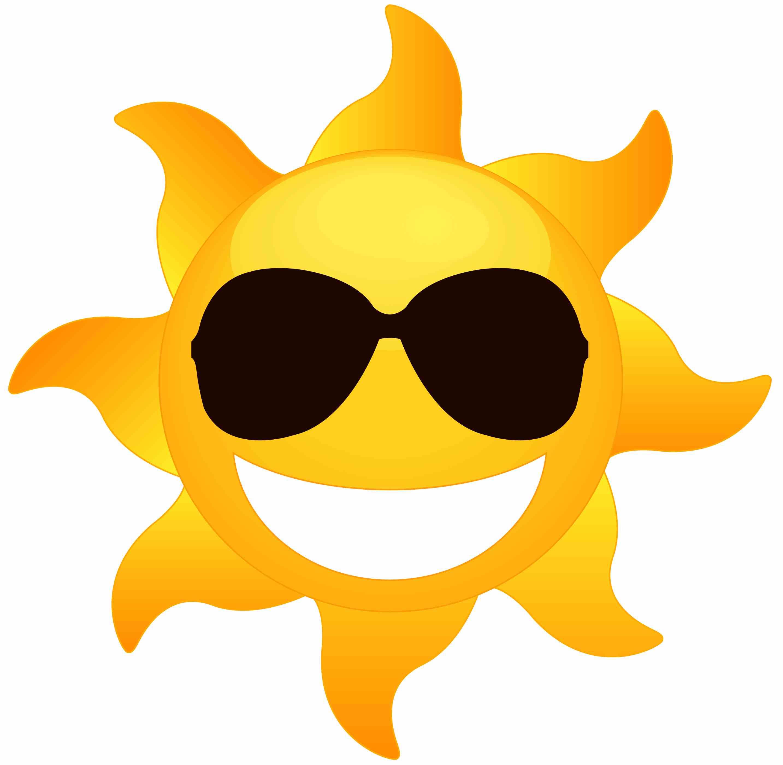 Sunshine sunglasses. Summer sun clipart free