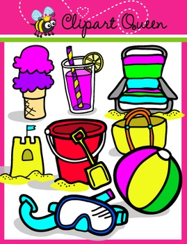 269x350 Clipart Summer Time Beach Things By Clipart Queen Tpt