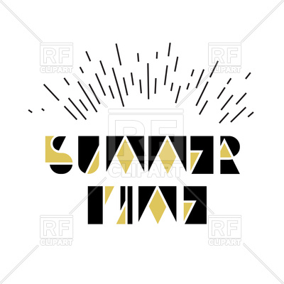 400x400 Summer Time Inscription Royalty Free Vector Clip Art Image