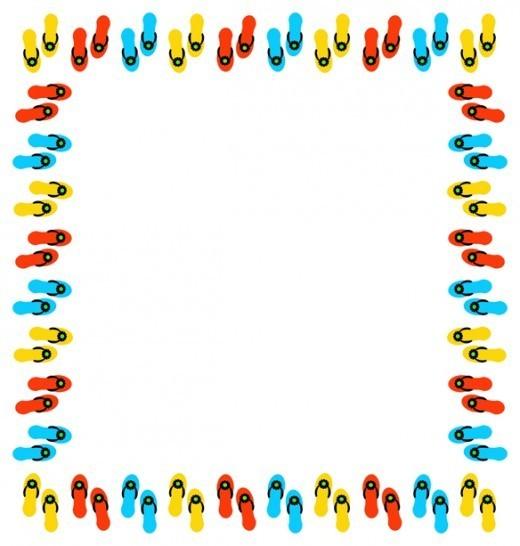 520x546 Summertime Border Clipart
