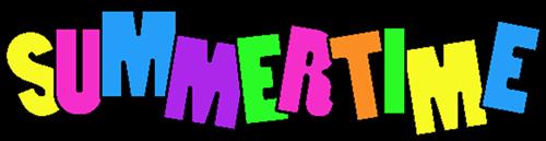 500x129 Summertime Fun Clipart