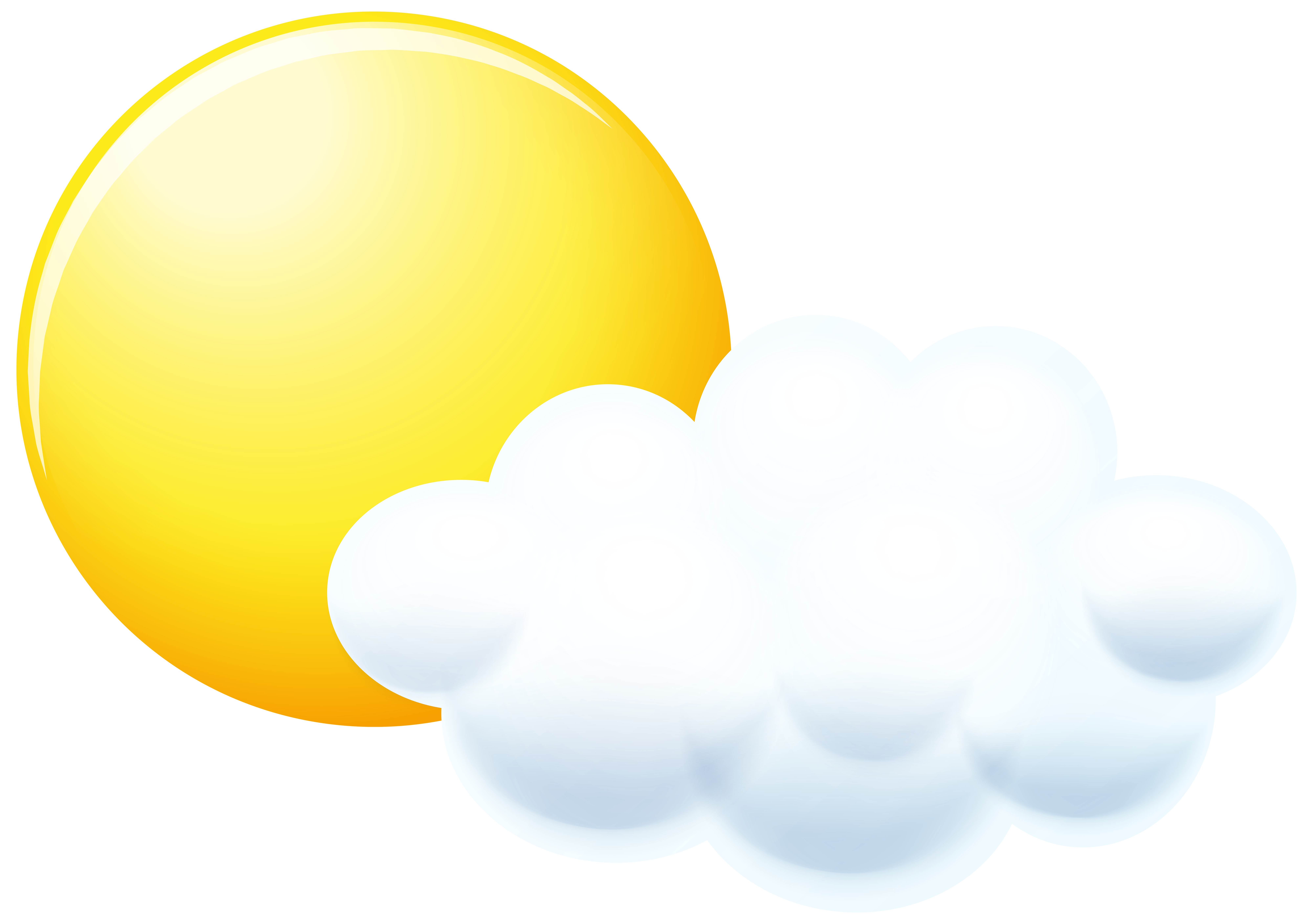 8000x5628 Sun And Cloud Clip Art Png Imageu200b Gallery Yopriceville