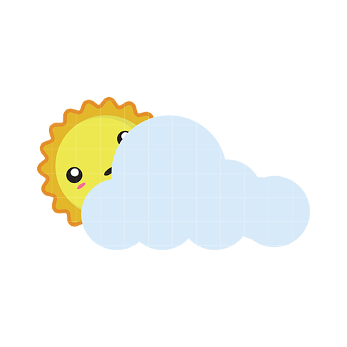 504x504 Sun Clipart Cloudy