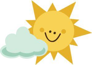 300x213 Sunshine Sol Lua Nuvens On Clip Art Sun And Cloud Image
