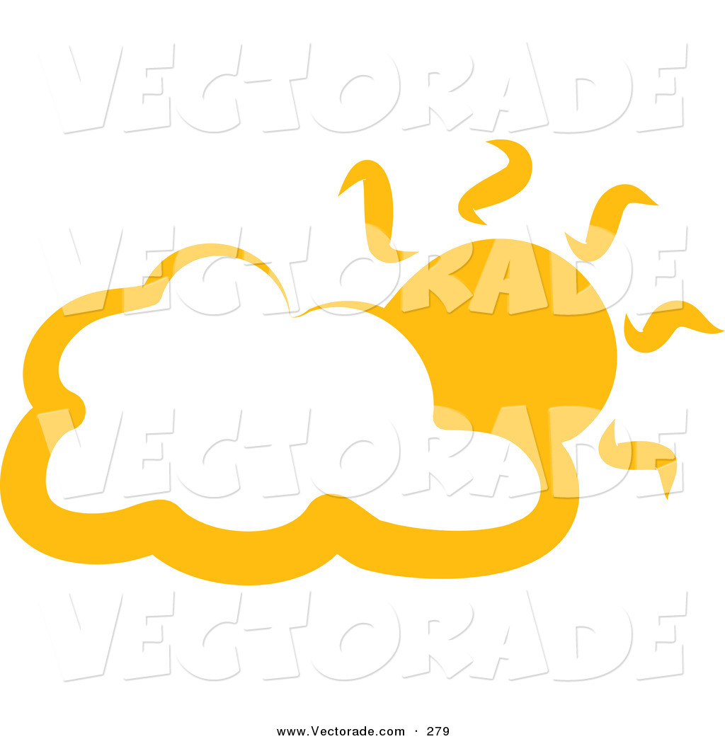 1024x1044 Vector of a Yellow Cloud and Sun on a White Background by Prawny