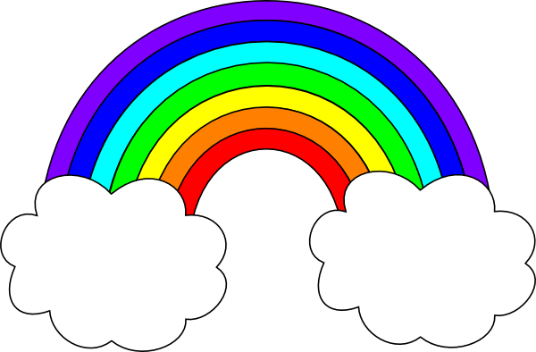 600x394 Rainbow With Cloud Clipart