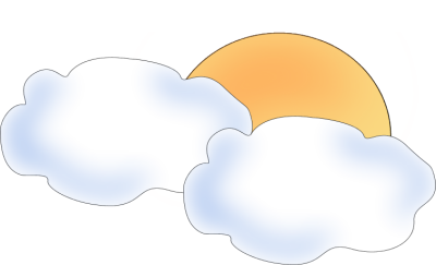 400x243 Sun Behind Clouds Clip Art
