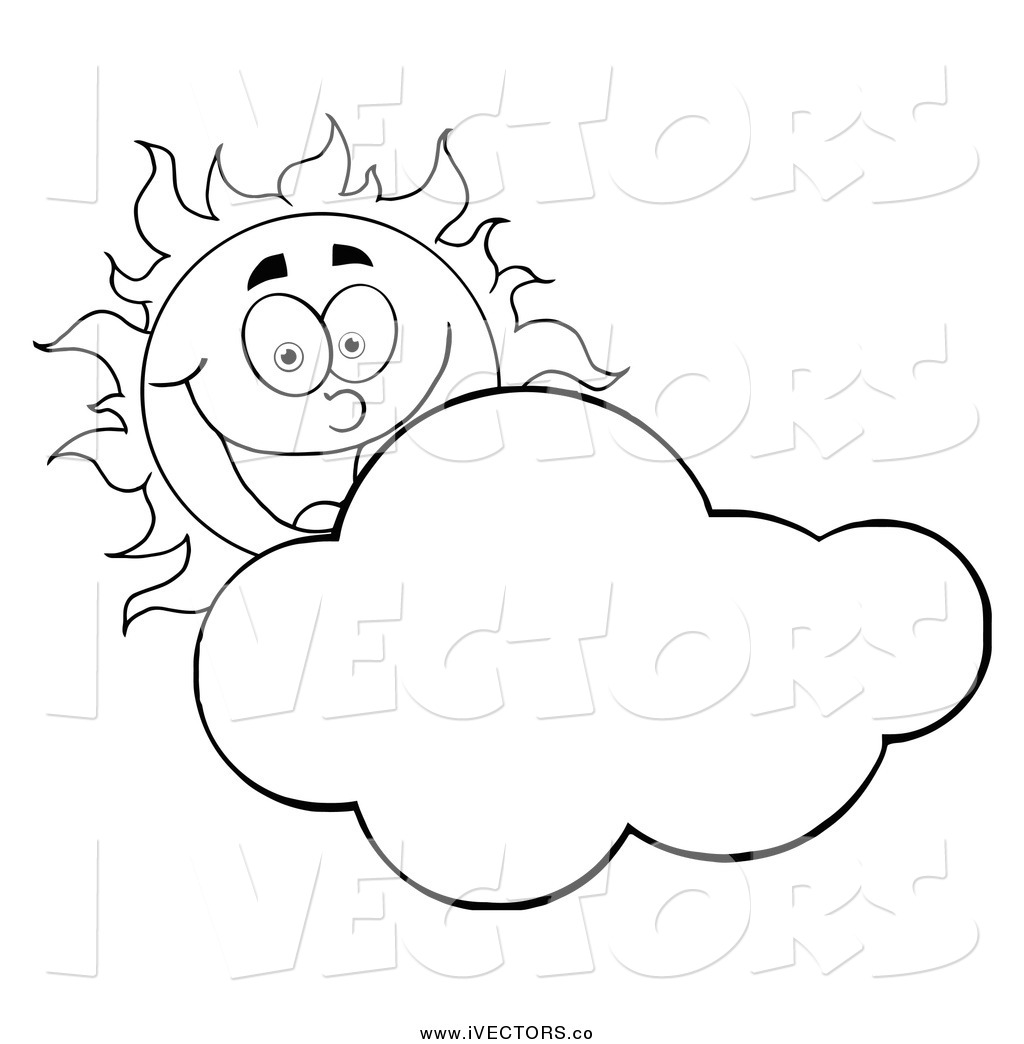 1024x1044 Vector Graphic Of Happy Blacknd White Sun Smiling Behind