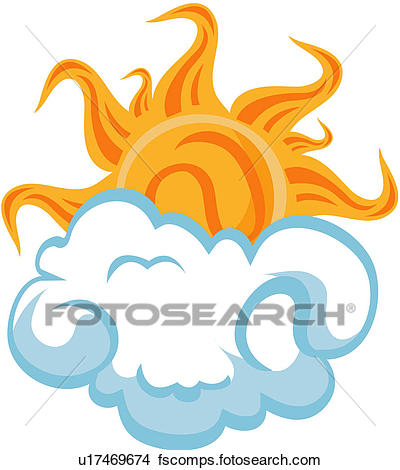 400x470 Clipart Of Clouds, Changing, Climate, Sun, Diary U17469674