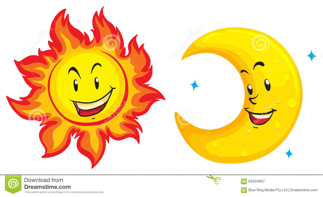 1300x791 Sun And Moon Clipart