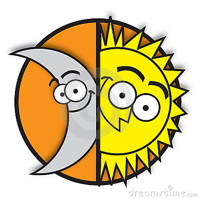 400x400 Sun And Moon Clipart