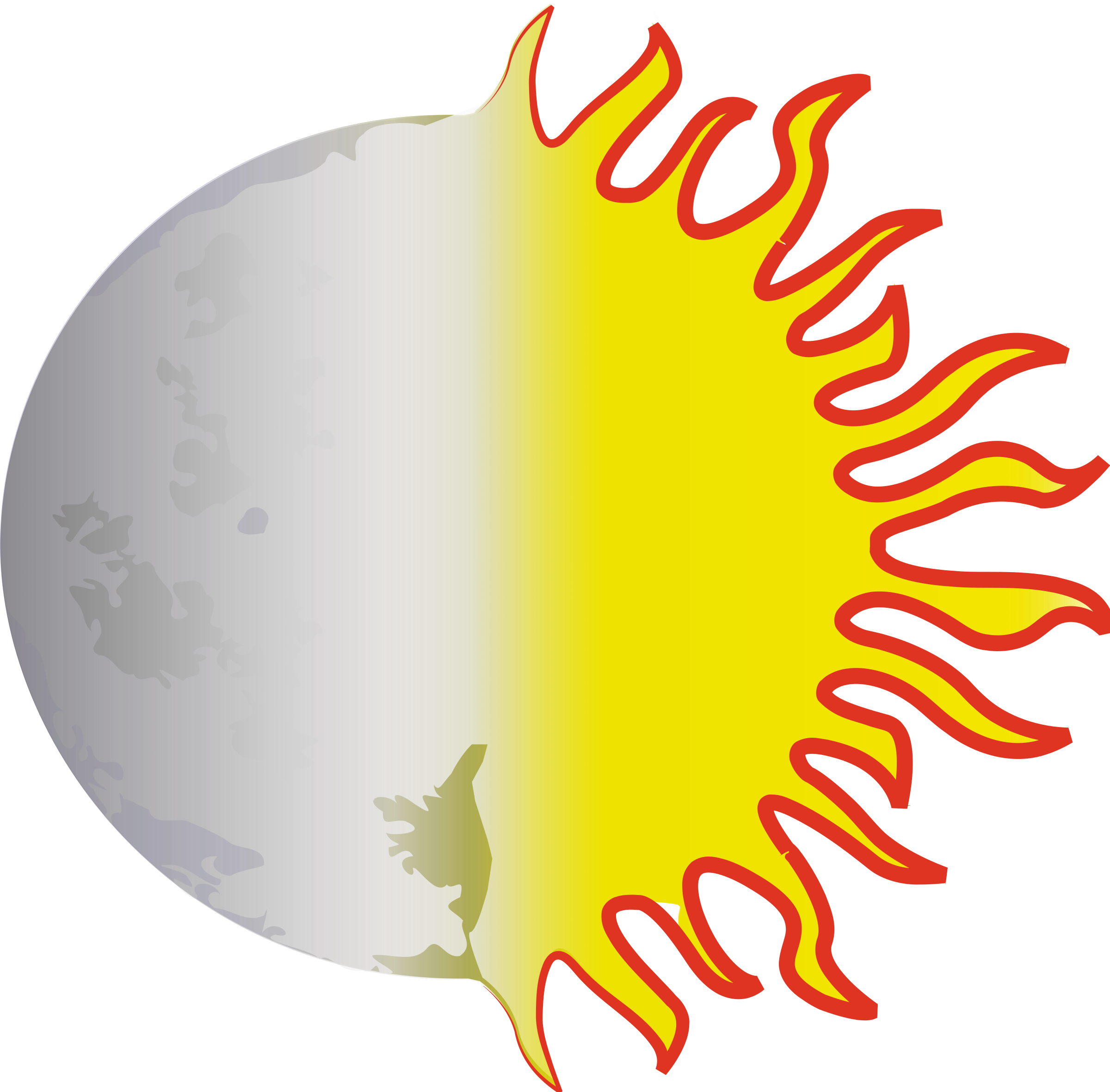 2400x2361 Sun And Moon Clipart Many Interesting Cliparts